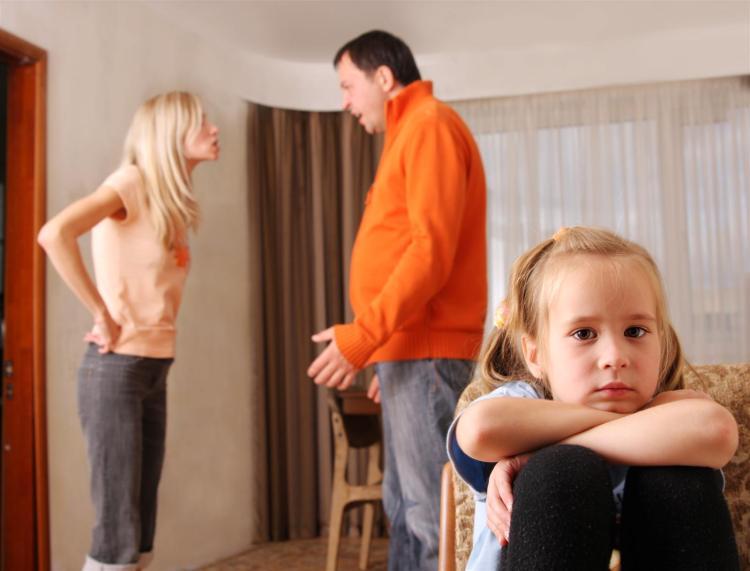 Divorce parents argue child